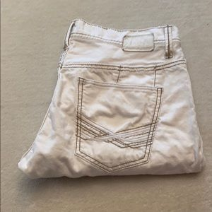 Buckle BKE Carter straight white jeans size 34R